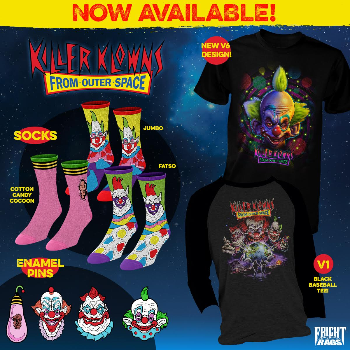 John Carpenter's The Thing & Killer Klowns from Outer Space collections from Fright-Rags